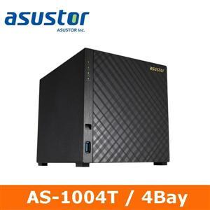 【綠蔭-免運】ASUSTOR華芸 AS-1004T 4Bay網路儲存伺服器