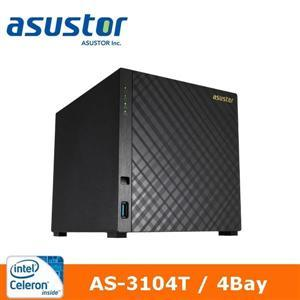 【綠蔭-免運】ASUSTOR華芸AS-3104T4Bay網路儲存伺服器