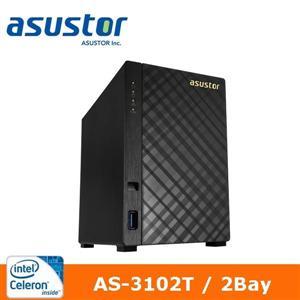 【綠蔭-免運】ASUSTOR華芸AS-3102T2Bay網路儲存伺服器
