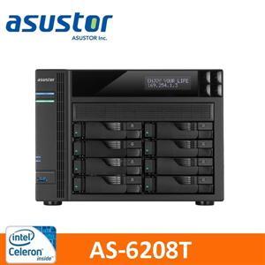 【綠蔭-免運】ASUSTOR華芸AS-6208T8Bay網路儲存伺服器