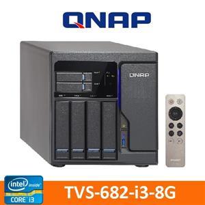【綠蔭-免運】QNAPTVS-682-i3-8G網路儲存伺服器