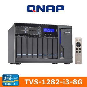 【綠蔭-免運】QNAPTVS-1282-i3-8G網路儲存伺服器