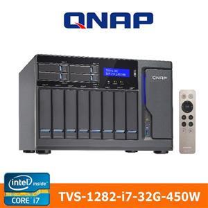 【綠蔭-免運】QNAPTVS-1282-i7-32G-450W網路儲存伺服器