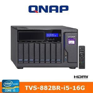 【綠蔭-免運】QNAPTVS-882BR-i5-16G網路儲存伺服器