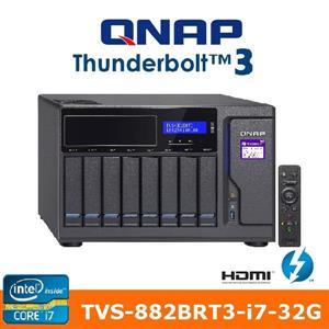 【綠蔭-免運】QNAPTVS-882BRT3-i7-32G網路儲存伺服器
