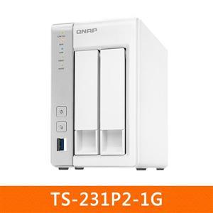 【綠蔭-免運】QNAPTS-231P2-1G網路儲存伺服器