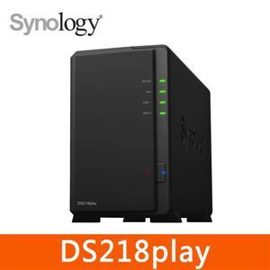 【綠蔭-免運】SynologyDS218play網路儲存伺服器