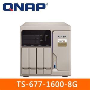 【綠蔭-免運】QNAPTS-677-1600-8G網路儲存伺服器