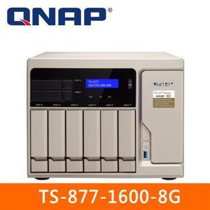 【綠蔭-免運】QNAPTS-877-1600-8G網路儲存伺服器