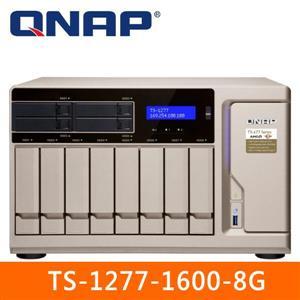 【綠蔭-免運】QNAPTS-1277-1600-8G網路儲存伺服器