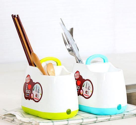 【省錢博士】手提韓式小清新筷子籠 / 筷子筒餐具勺子收納盒 / 隨機 69元