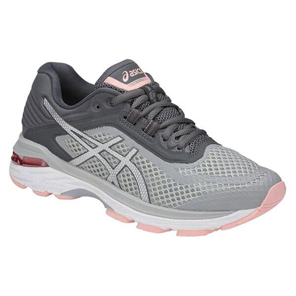 ASICSGT-20006女鞋慢跑輕量緩衝穩定中底機能彈性舒適灰白粉【運動世界】T855N-9693