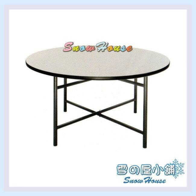 ╭☆雪之屋居家生活館☆╯R616-05 4尺圓鐵腳餐桌(白碎石/十字腳)