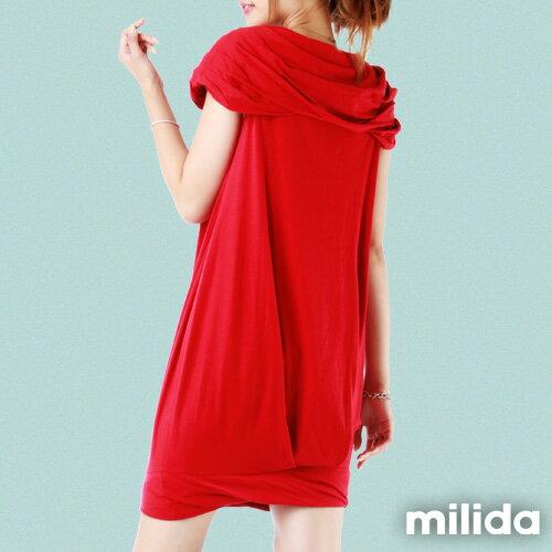 【Milida,全店七折免運】-夏季尾聲-素色款-一字領花苞洋裝 1