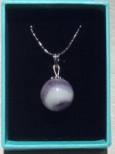 雲財紫水晶天然石項鍊
