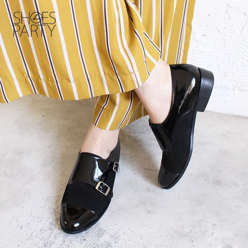 【C2-18127L】英倫風拼接孟克鞋_Shoes Party 2