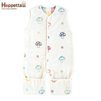日本 Hoppetta 蘑菇六層紗成長型睡褲