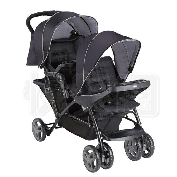 GracoStadiumDuo城市雙人行雙人前後座嬰幼兒手推車-探險黑【悅兒園婦幼生活館】