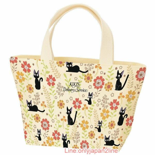 【真愛日本】17030300015小提袋-JIJI向日葵黃   魔女宅急便 黑貓 奇奇貓  手提袋   便當袋 正品