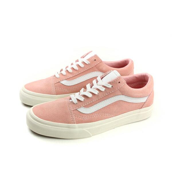 VANS Old Skool  Retro 休閒布鞋 綁帶 粉紅色 珊瑚粉 男女鞋 720