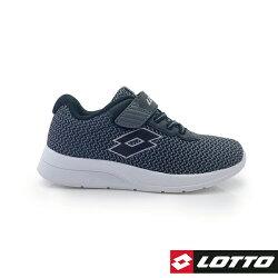 義大利第一品牌-LOTTO樂得 童款MEGALIGHT 輕量跑鞋 137g [8050] 黑【巷子屋】