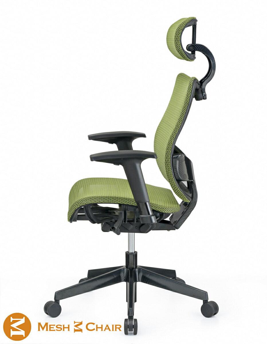 恰恰人 體工學網椅 附頭枕 蘋果綠 (電腦椅 辦公椅 人體工學椅)