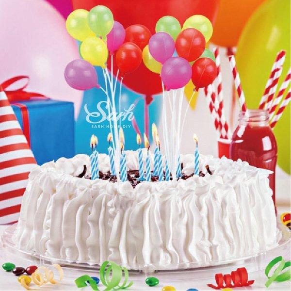 =優生活=韓國派對橢圓形氣球蛋糕裝飾品 氣球蛋糕插 聖誕樹蛋糕插 聖誕蛋糕裝飾品 生日派對用品