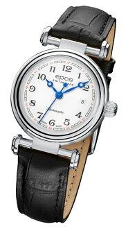epos 愛寶時 4430.120.20.30.15FB 復古機械腕錶/白面28mm