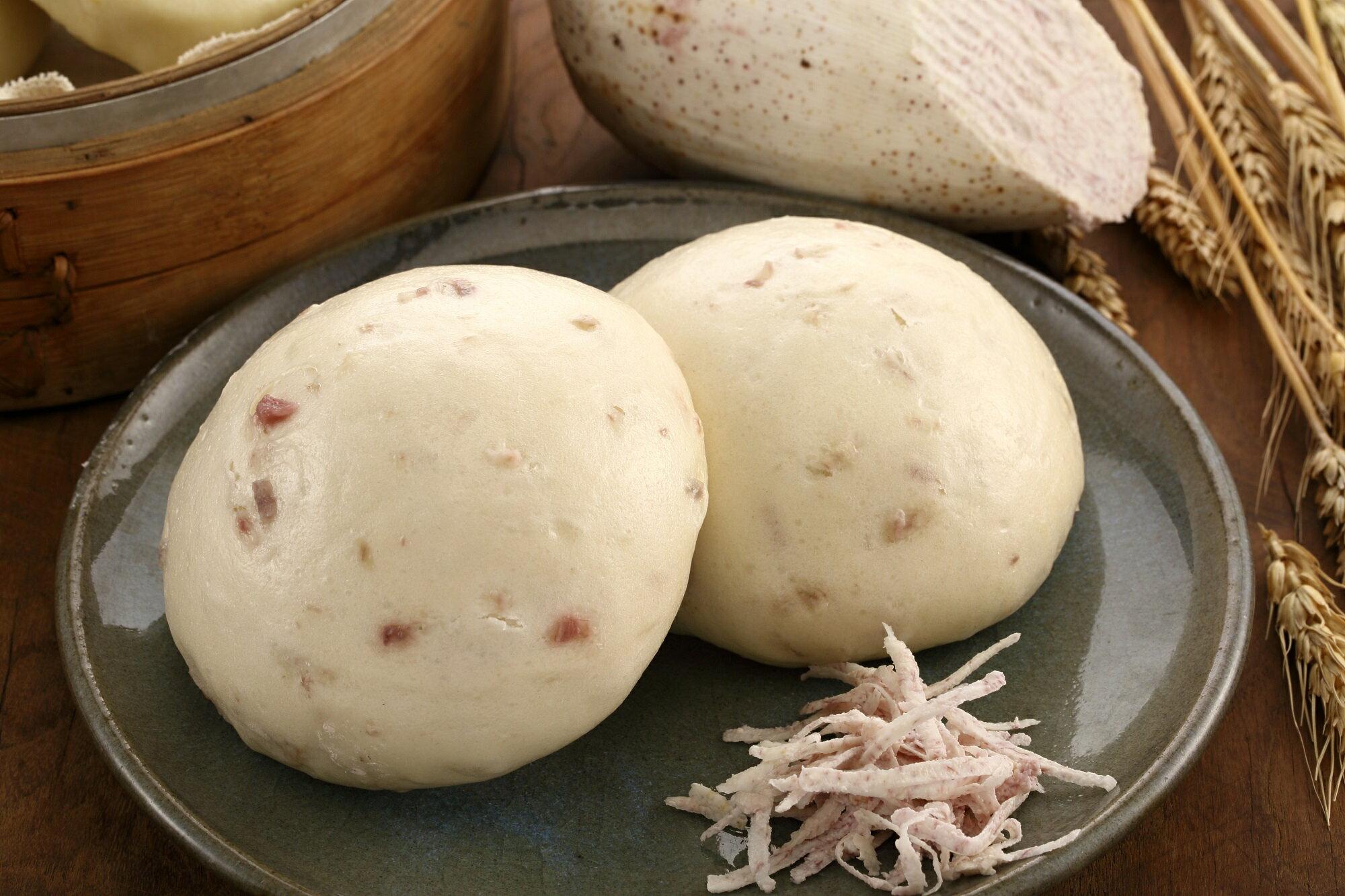 大竹北『 芋頭鮮奶 』手工饅頭~5入(饅頭/包子/老麵/手工)