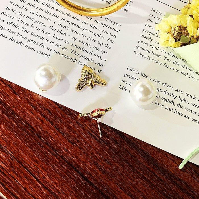 耳環 個性 愛心 鑲鑽 珍珠 甜美 氣質 雙面 耳釘 耳環【DD1812021】 BOBI  03 / 07 7