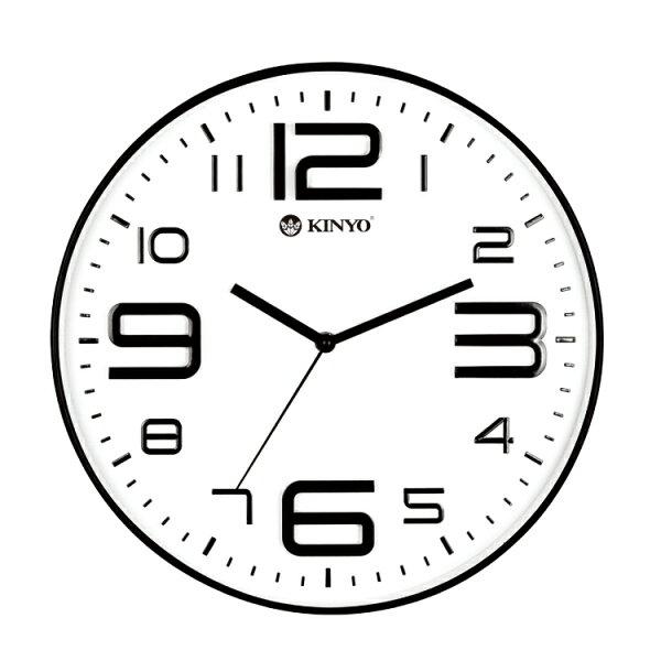 CL-141簡約浮雕靜音掛鐘時鐘鬧鐘掛鐘壁鐘LCD電子鐘【迪特軍】