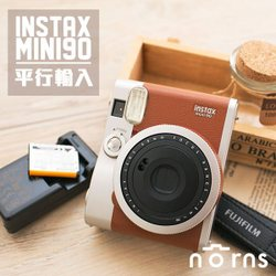 【MINI90富士拍立得相機旗艦機 棕色】Norns 平輸保固一年 Fujifilm instax mini 90單機 復古經典 NEO CLASSIC