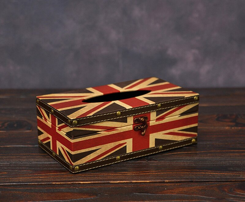 《派崔克》美式 復古風 國旗 面紙盒 衛生紙盒 面紙套 小物收納 !新生活家具! 樂天雙12