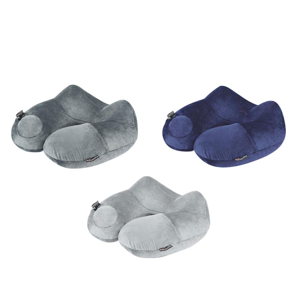 全新升級 自動充氣U型枕 出差旅行枕護頸 飛機枕 枕頭 午休枕 枕頭 U型枕 人體工學 護頸枕 頸枕