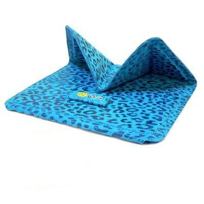 平板電腦用折疊站立式保護套/支架(土耳其藍)【e2moro】