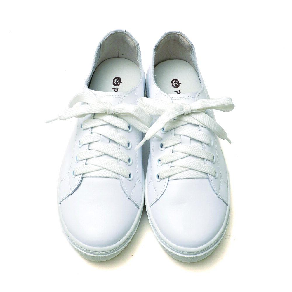 專櫃鞋 全真皮超軟綁帶小白鞋-白