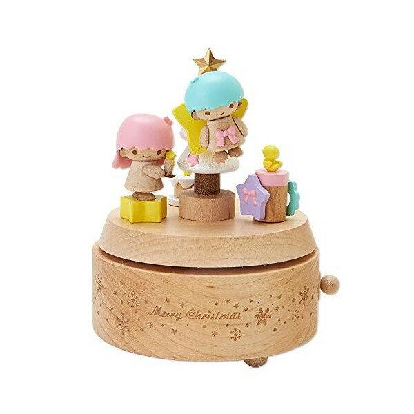 【真愛日本】16071900022木製音樂盒-TS-XMAS聖誕樹與小鴨  三麗鷗家族 Kikilala 雙子星  音樂鈴  擺飾 收藏
