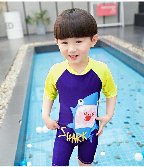baby童衣 兒童泳衣 男童拉鍊連體衝浪服0-8歲寶寶幼兒小中童泳裝男孩游泳衣 88316