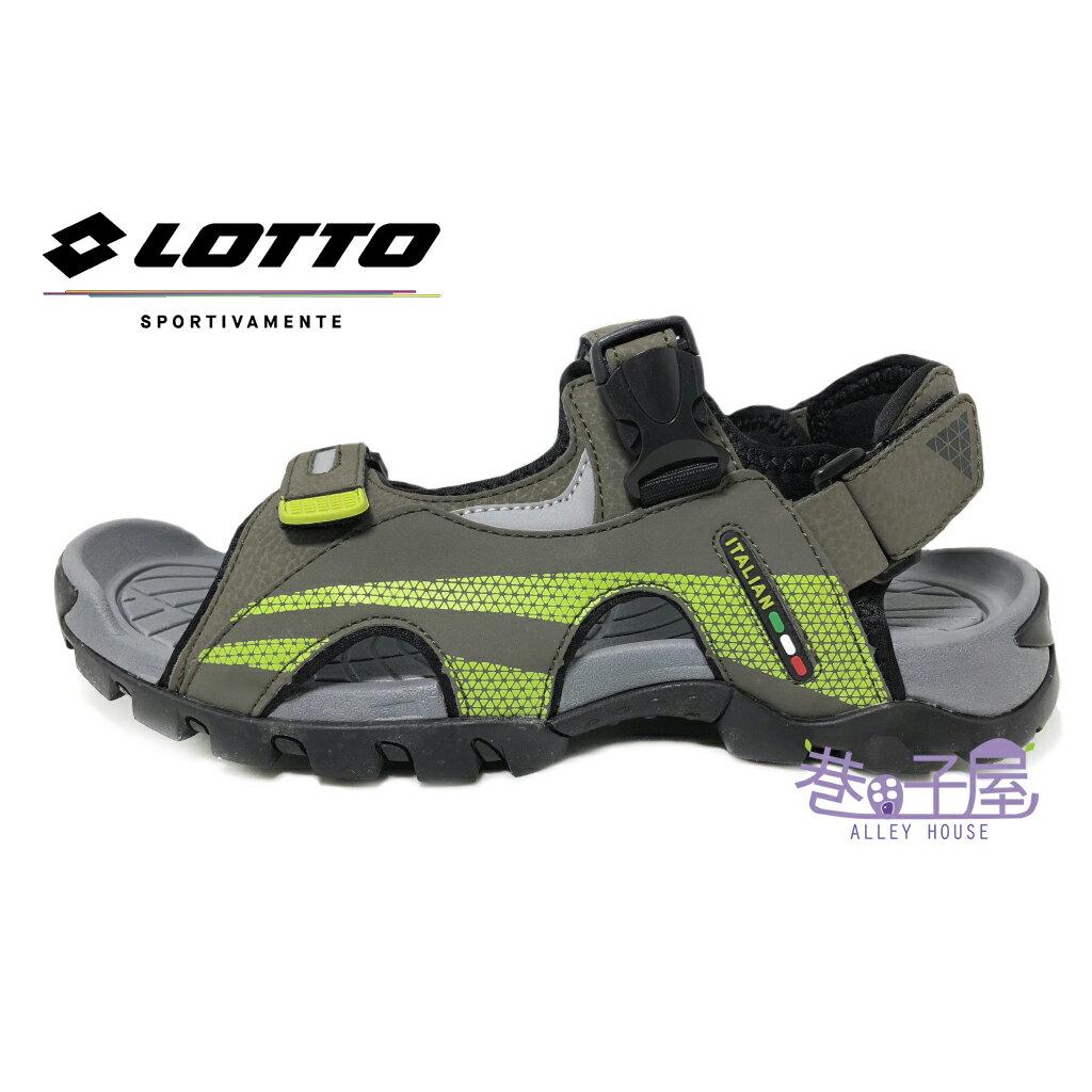 【巷子屋】義大利第一品牌-LOTTO樂得 男款防踢野趣戶外涼拖鞋 涼鞋 拖鞋 [5215] 灰綠 超值價$398