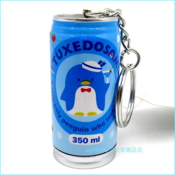 asdfkitty可愛家☆山姆企鵝罐型原子筆鑰匙圈吊飾-日本正版商品0直購