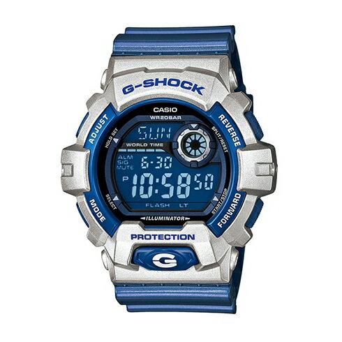 CASIO G-SHOCK G-8900CS-8鋼鐵藍白腕錶/黑面55*52mm