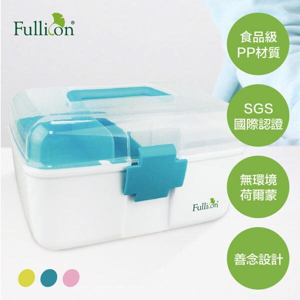 【Fullicon護立康】馬卡龍配色 雙層家庭保健醫藥箱 藥物收納箱 急救箱 FB003