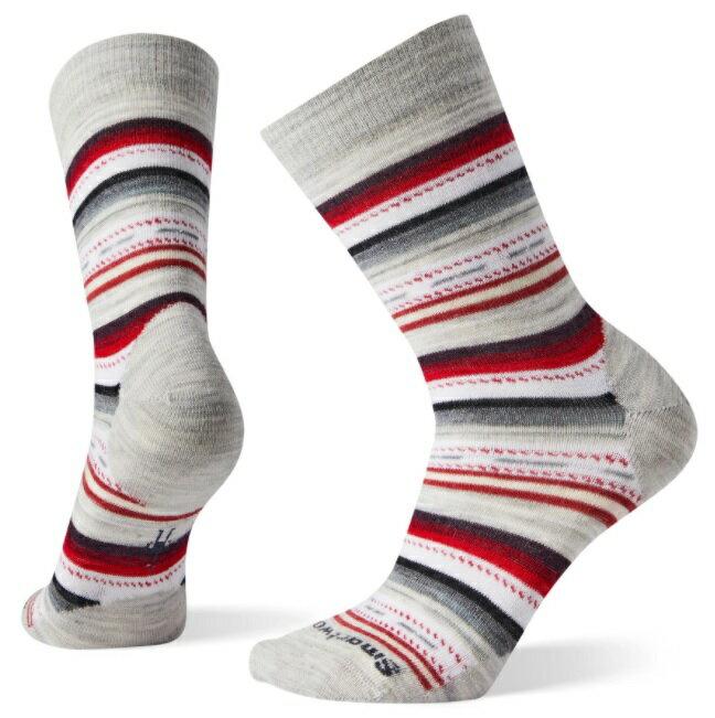 【【蘋果戶外】】Smartwool SW0SW717 069 塵灰色【女襪】瑪格麗特紋 日常超薄羊毛中筒襪 美國製造 美麗諾羊毛襪 排汗襪 保暖 吸濕 抗臭