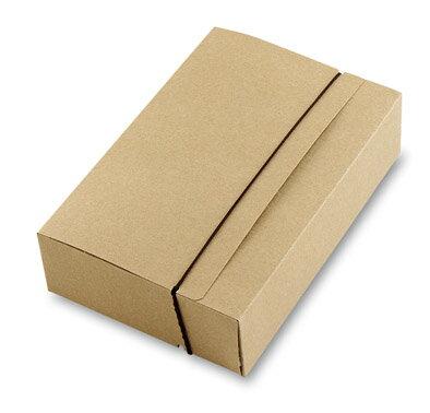 [微型創業特輯]牛皮紙空白盒6入(一體式)附35CM咖啡彈性繩10入