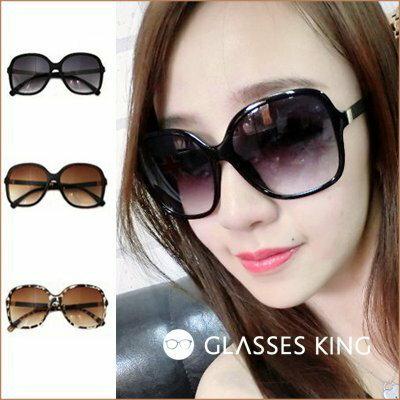 眼鏡王☆正妹顯瘦歐美小香風超大框方框金屬皮革墨鏡太陽眼鏡正韓國豹紋黑色咖啡S121