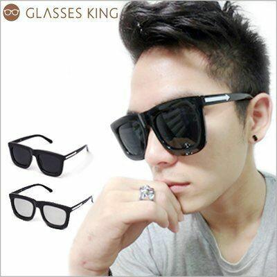 眼鏡王☆箭頭大框方框韓國復古顯瘦小臉粗框墨鏡太陽眼鏡UV400海邊型男正妹反光白藍黑色S202