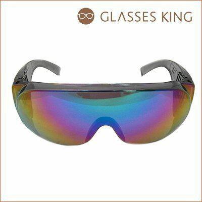 眼鏡王~超大框水銀彩色反光鏡片墨鏡太陽眼鏡誇張雪鏡風羅志祥尾牙表演舞會黑色藍S~101