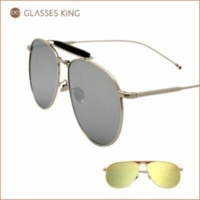 眼鏡王☆雷朋金屬帥氣時尚潮流復古太陽眼鏡墨鏡平面鏡片銀金反光白S218