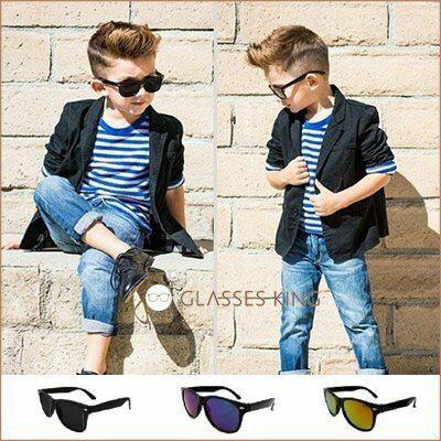 眼鏡王☆現貨!小孩兒童眼鏡太陽眼鏡墨鏡海邊雷朋膠框帥氣反光鏡片水銀黑色綠黃藍色K16