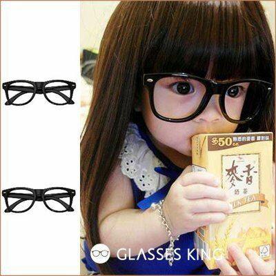 眼鏡王☆現貨!小孩兒童造型眼鏡框韓國人氣丁小雨糖果色紅色黑色綠藍色黃色雷朋鉚釘K2